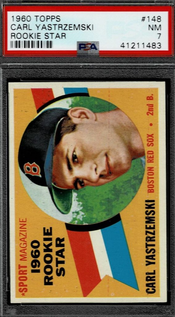 1960 Topps Carl Yastrzemski Baseball Card Red Sox Card # 148 Rookie